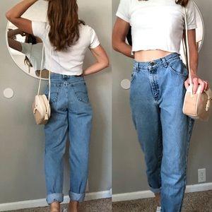 Vintage light wash high waist Lee jeans